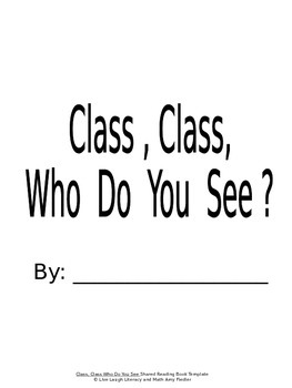 Class, Class Shared Reading Book Template