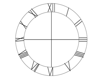 Classy Clock Clip Art with Roman Numerals!  {Clock face and Hands!}