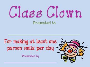Class Clown Award