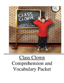Class Clown Guided Reading Unit Level O