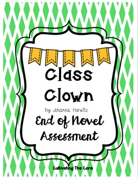 Class Clown Novel Assessment