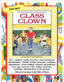 Class Clown by Johanna Hurwitz ELA Novel Reading Literature Study Guide