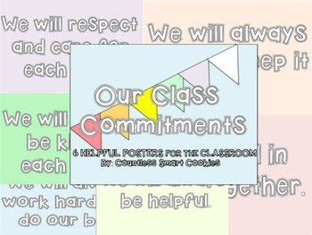 Class Commitment Posters [6] to Display in the Classroom FREEBIE