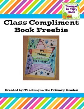Class Compliment Book Freebie