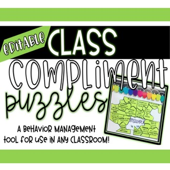 Class Compliment Puzzles 100% Editable