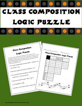 Class Composition Logic Puzzle.
