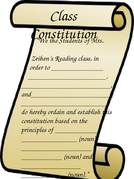 Class Constitution & Bill of Rights