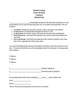 Class Contract