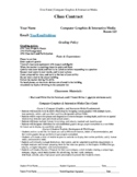 Class Contract & Grading Policy