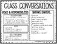 Class Conversation Cards for Building Classroom Community