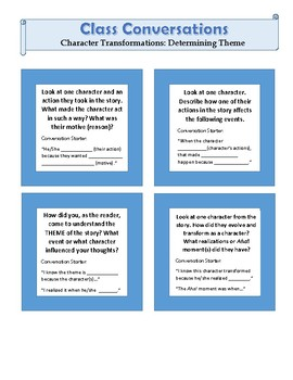 Class Conversations: HOT Questions On Character Growth & Determining Theme