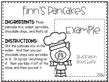 Class Cookbook {Shared writing activity}