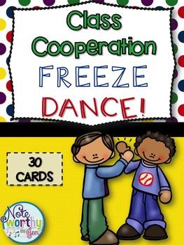 Class Cooperation Freeze Dance {Brain Break}