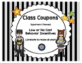 Classroom Management Behavior Coupon Incentives