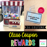 Class Coupon Rewards- Claw or Crane Machine