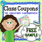 Class Coupon Rewards for Classroom Management Ticket System - FREE Sample