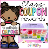 Classroom Reward Coupons for Classroom Management & Back to School - EDITABLE