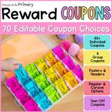 Classroom Reward Coupons for Classroom Management & Back t
