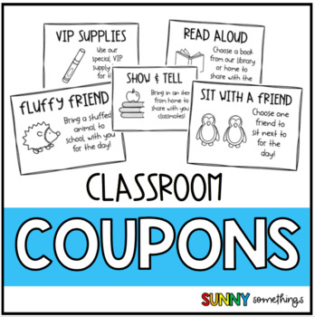 Classroom Coupons: Classroom Management Incentive