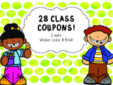 Class Coupons {Color + B&W}
