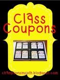 Class Coupons Editable