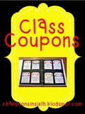 Class Coupons Editable