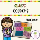 Class Coupons - Editable