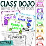 Class DOJO Clip Chart & Behavior Trackers - Editable