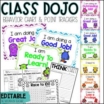 Class DOJO Clip Chart & Behavior Trackers