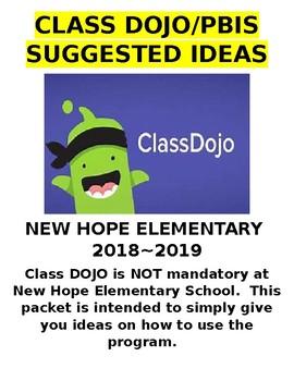 Class DOJO Ideas