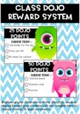 Class DOJO Rewards Chart FREEBIE