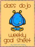 Class DOJO Weekly Goal Sheet