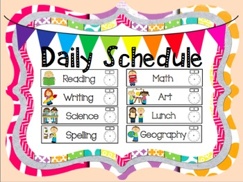 Class Daily Schedule Cards
