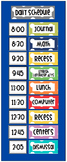 Class Daily Schedule Pocket Chart Polka Dot Multi-Color Cards EDITABLE