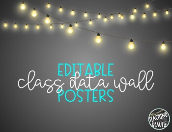 Class Data Wall Posters