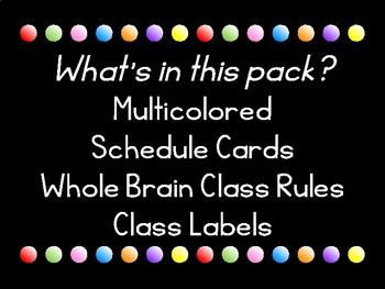 Class Decor: Black, White, and Neon!