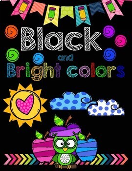 Class Decor Black and Bright Colors