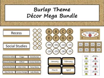 Class Décor Bundle - Burlap