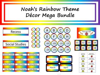 Class Décor Bundle - Noah's Rainbow