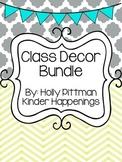 Class Decor Bundle- Teal/Yellow/Grey