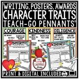 Digital Character Education Traits Posters, Writing Bullet