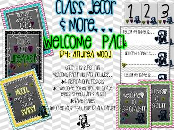 Class Decor Doodle Welcome Pack