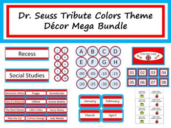 Class Décor Bundle - Dr. Seuss Tribute Colors
