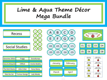 Class Décor Bundle - Lime & Aqua