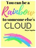 Class Decor - Motivational Poster - Rainbow