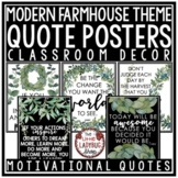 Motivational Quote Posters- Vintage Farmhouse Theme Classr