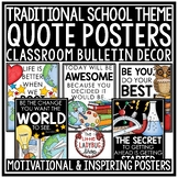 Inspirational Motivational Quote Posters- Classroom Decor