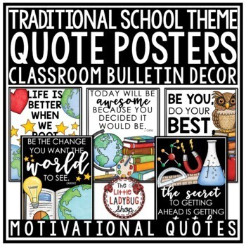 Inspirational Quote Posters- Back to School Bulletin Board - Motivational Quotes