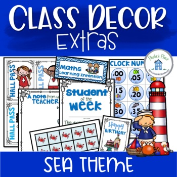 Class Decor Sea Theme Extras