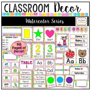 Class Decor Set- Watercolor
